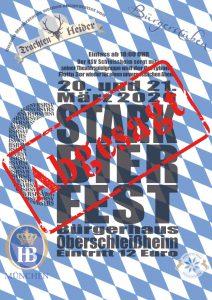 Plakat Starkbierfest 2020