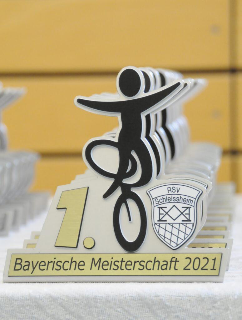 Pokale der BM Junioren 2021 1. Platz