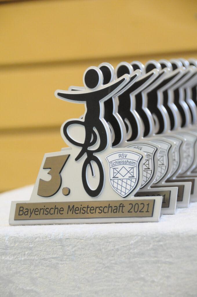 Pokale der BM Junioren 2021 3. Platz